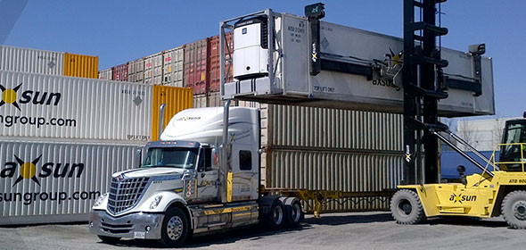 Intermodal container shipping and rail transportation Canada
